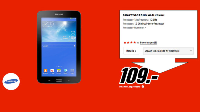 Samsung Galaxy Tab 3 7.0 Lite 8GB WiFi © Media Markt