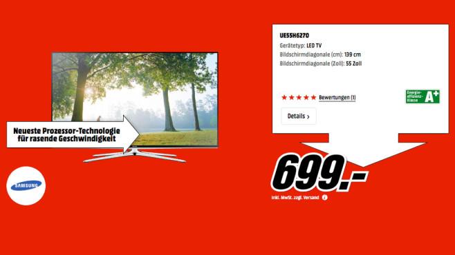 Samsung UE55H6270 ©Media Markt