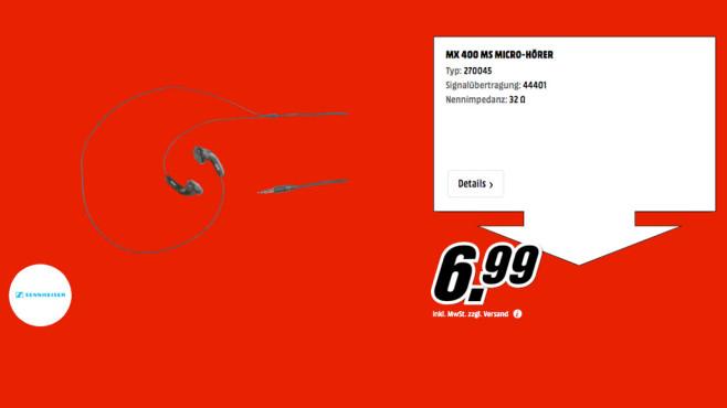 Sennheiser MX 400 ©Media Markt