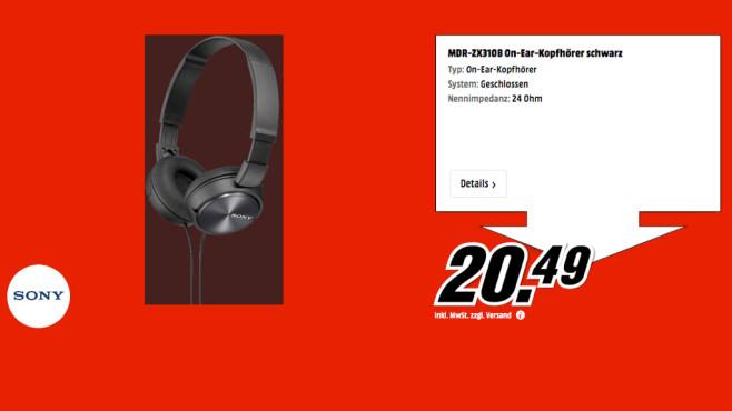 Sony MDR-ZX310 ©Media Markt