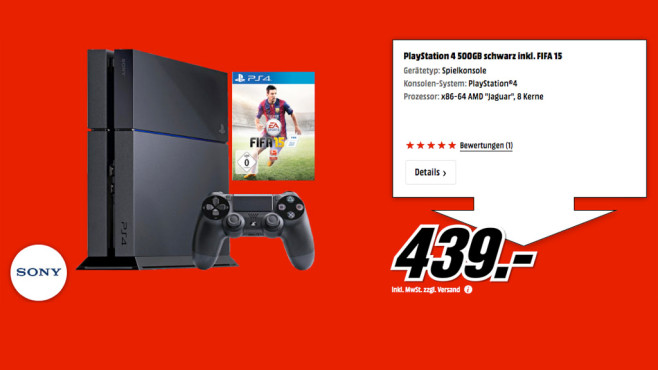 Sony PlayStation 4 (PS4) 500GB © Media Markt