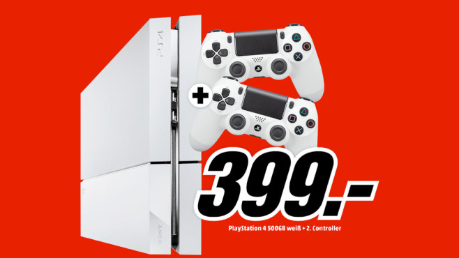 Sony PlayStation 4 (PS4) 500GB (weiß) © Media Markt
