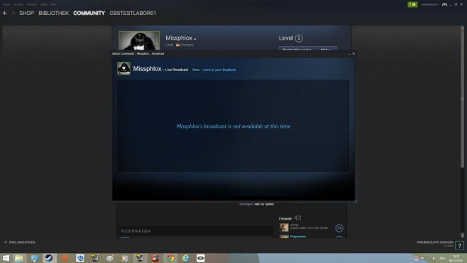 Steam Broadcast: Verbindungsprobleme © Steam