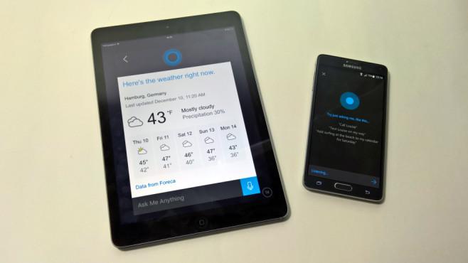 Cortana: Sprachsteuerung auf Windows und Android ©COMPUTER BILD