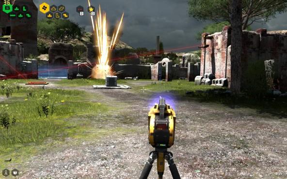 Talos Principle Explosion ©Croteam