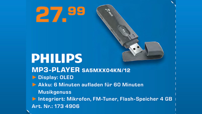 Philips SA5MXX04KN ©Saturn