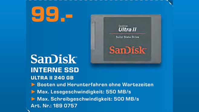 Sandisk Ultra II 240GB SSD © Saturn