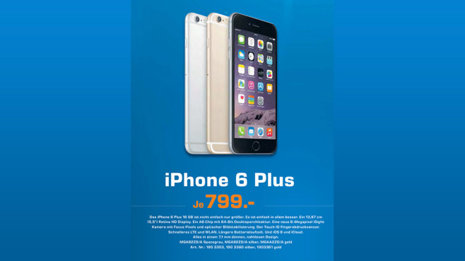 Apple iPhone 6 Plus 16GB © Saturn