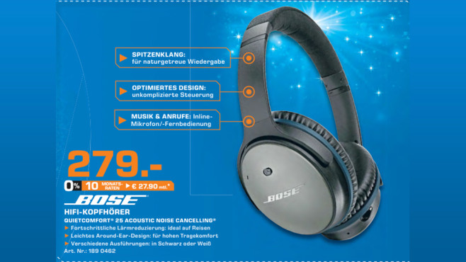Bose QuietComfort 25 © Saturn
