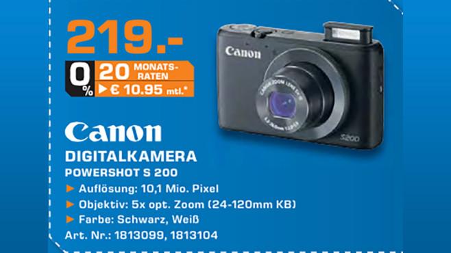 Canon PowerShot S200 ©Saturn
