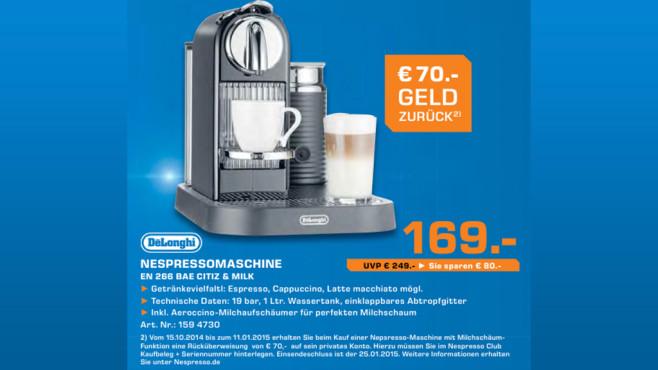 De'Longhi Nespresso Citiz & Milk EN 266 ©Saturn