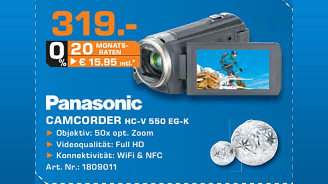 Panasonic HC-V550 © Saturn