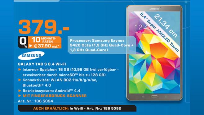 Samsung Galaxy Tab S 8.4 16GB ©Saturn