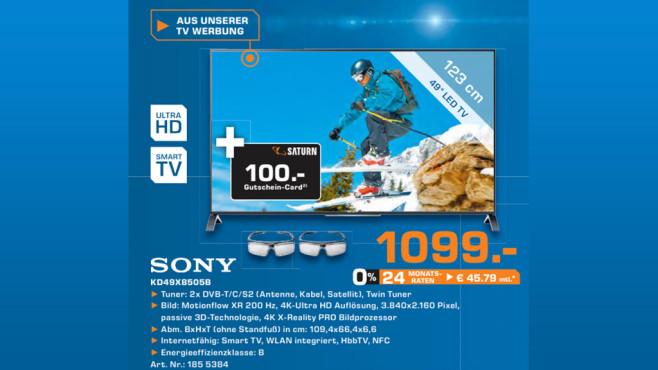 Sony KD-49X8505 ©Saturn