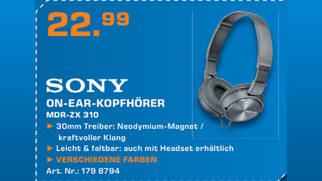 Sony MDR-ZX310 © Saturn