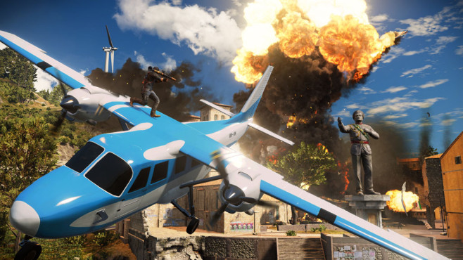 Actionspiel Just Cause 3: Flugzeug © Square Enix