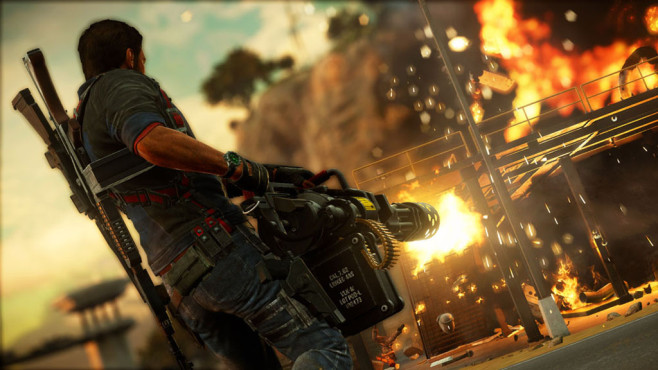 Actionspiel Just Cause 3: Minigun © Square Enix
