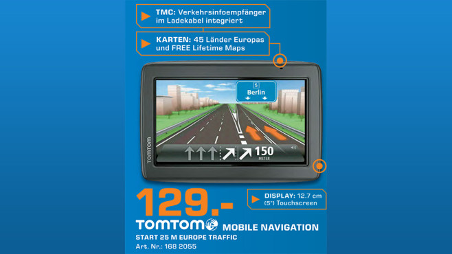 TomTom Start 25 M Europe Traffic © Saturn