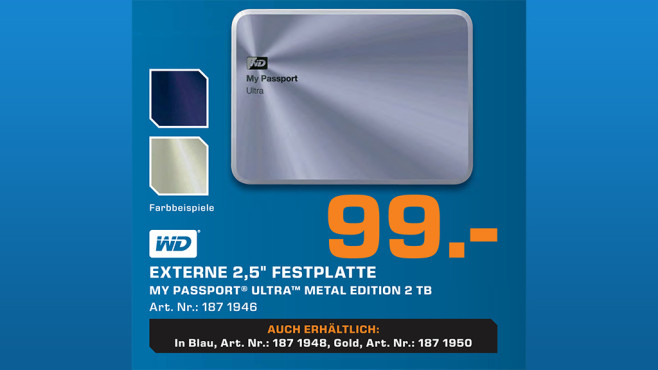 Western Digital My Passport Ultra Metal Edition 2TB © Saturn