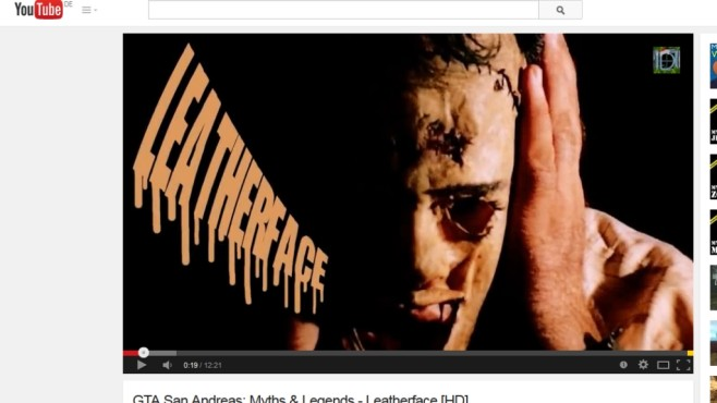 Leatherface © YouTube / Vortex