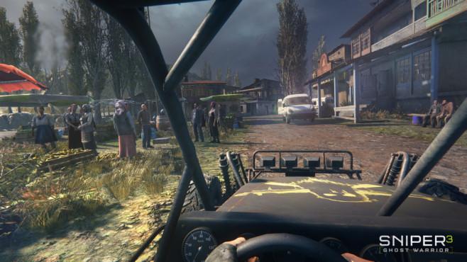 """Sniper Ghost Warrior 3: Das ewige Talent Mit dem Auto geht es schneller über die """"Open-World""""-Maps. ©Koch Media/CI Games"""