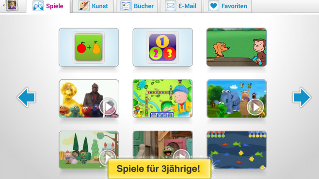 Child-Modus: Spiele + Videos © Zoodles