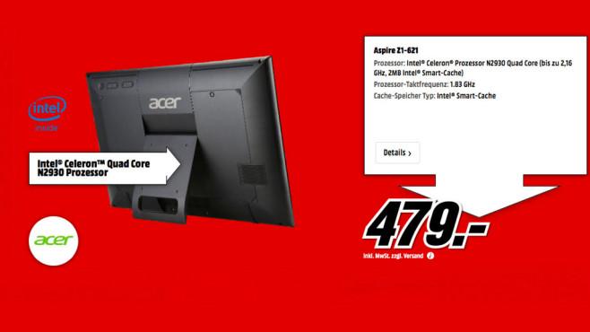 Acer Aspire Z1-621 ©Media Markt