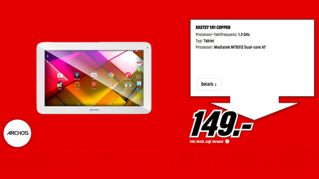 Archos Copper 101 © Media Markt