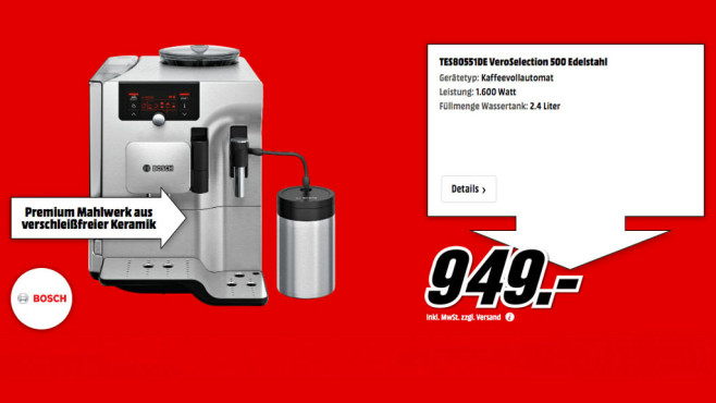 Bosch TES 80551 VeroSelection 500 © Media Markt