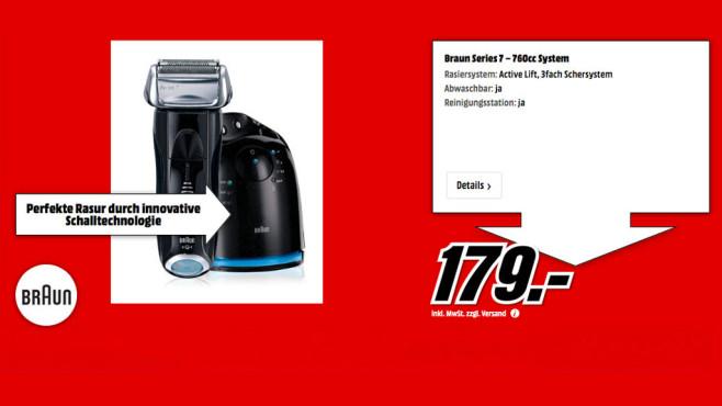 Braun 760cc-4 Series 7 ©Media Markt