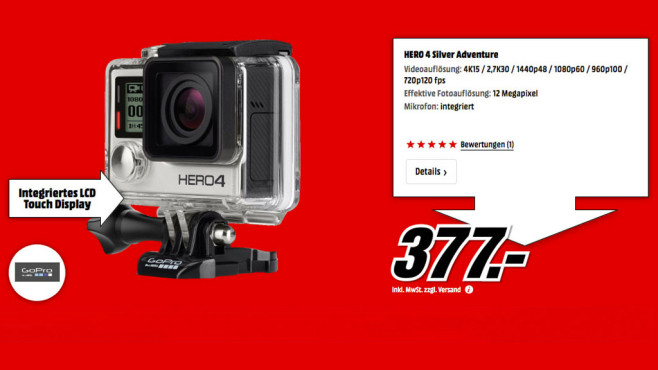 GoPro HERO 4 Silver © Media Markt