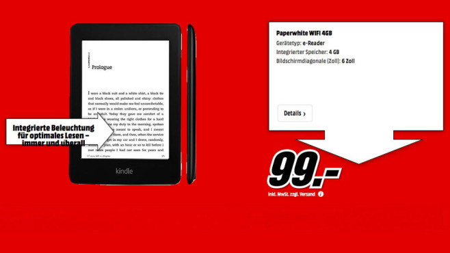Kindle Paperwhite WiFi (2013) © Media Markt