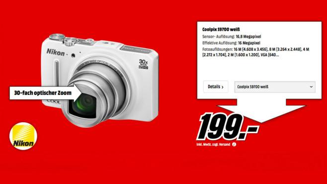 Nikon Coolpix S9700 ©Media Markt