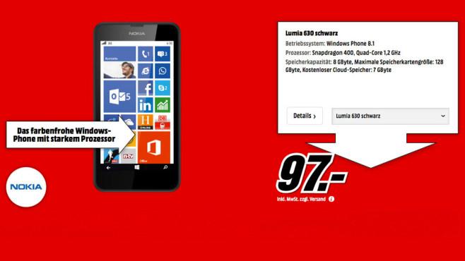 Nokia Lumia 630 ©Media Markt