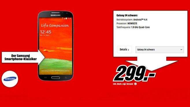 Samsung Galaxy S4 inkl. Samsung Galaxy Tab 3 7.0 Lite ©Media Markt