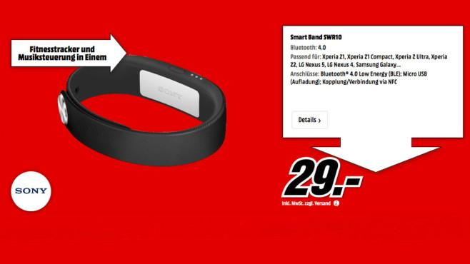 Sony Smartband SWR10 ©Media Markt