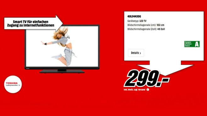 Toshiba 40L3443DG ©Media Markt