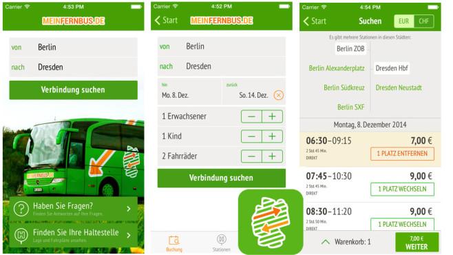 MeinFernbus: Die Fernbus App ©MFB MeinFernbus GmbH