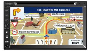 Kartenmaterial für die Navigation kostet Aufpreis ©Pearl