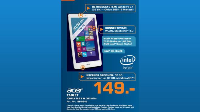 Acer Iconia Tab 8W-W1-810 ©Saturn