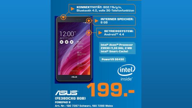 Asus FonePad 8 ©Saturn