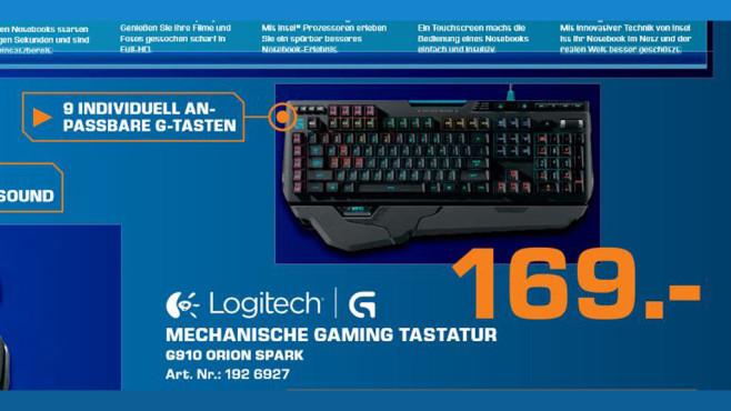 Logitech G910 Orion Spark DE ©Saturn