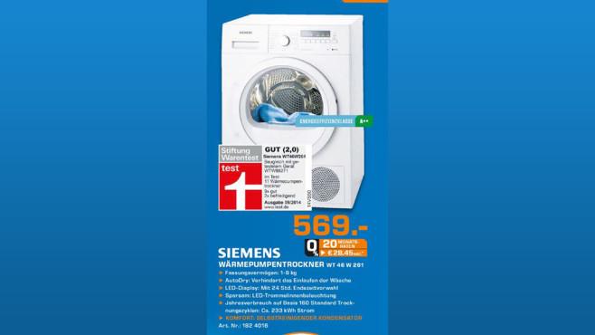 Siemens WT46W261 ©Saturn
