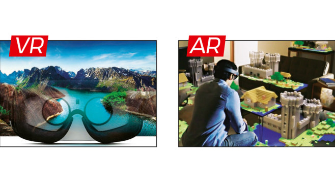 Virtuell Reality (VR) versus Augemented Reality (AR) © COMPUTER BILD