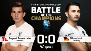 Duell der Champions: August Rosenmeier gegen Mirza Jahic ©FIFA