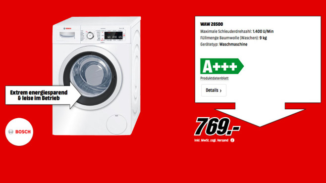 Bosch WAW28500 ©Media Markt