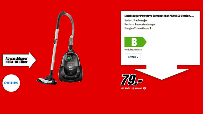 Philips FC 8477/91 PowerPro Active Eco © Media Markt