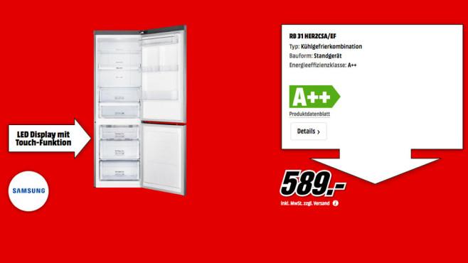 Samsung RB31HER2 CSA/EF ©Media Markt