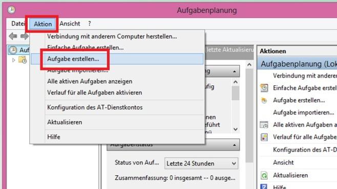 Aufgabenplanung nutzen ©COMPUTER BILD