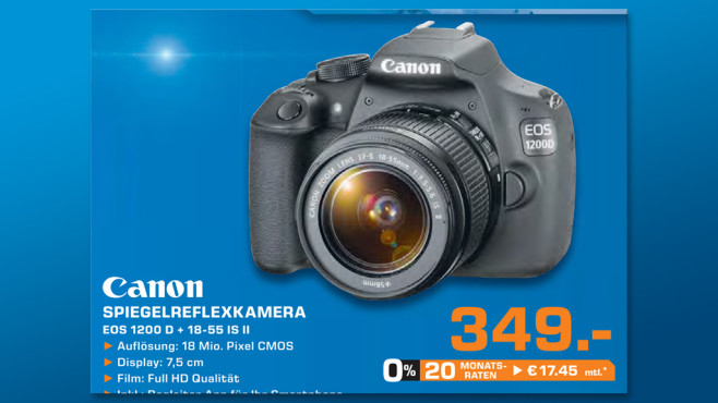Canon EOS 1200D Kit 18-55 mm [Canon IS II] ©Saturn